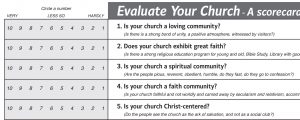 Evaluate your church