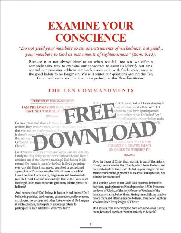 Examine your conscience