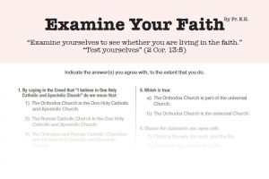 Examine your faith