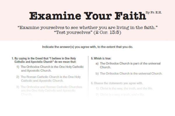 Examine your faith